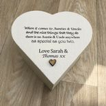 PERSONALISED AUNTIE & UNCLE Aunty Aunt Or ANY NAME Heart Box Pre - 254337043554